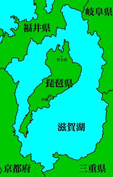 朝起きると琵琶湖と滋賀県が入れ替わっていたイラストです ツイナビ