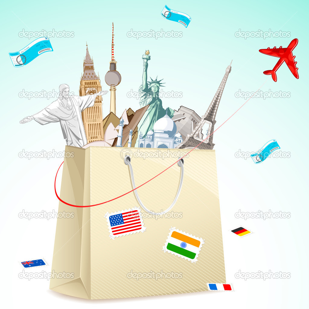 Travel package  Stock Vector  vectomart 5620438