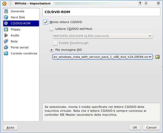 [Configurazione cdrom Virtualbox]