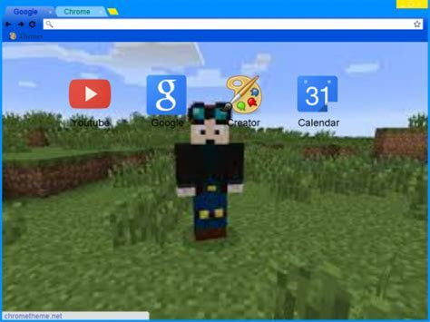 DanTDM (The Diamond Minecart) Chrome Theme   ThemeBeta