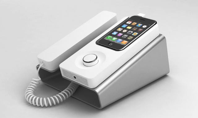The Desk Phone Dock Turns Your iPhone Into A Landline ...