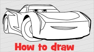 How To Draw And Color Jackson Storm Disney Pixar Cars 3 2017
