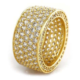 18K Gold Iced Out Wedding Ring   Hip Hop Rings   Niv's Bling
