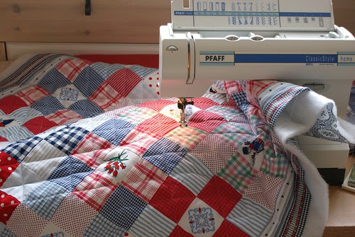quilting with the machine