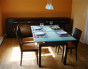 Dining Room in the U.S. Photo credit: Wikipedia