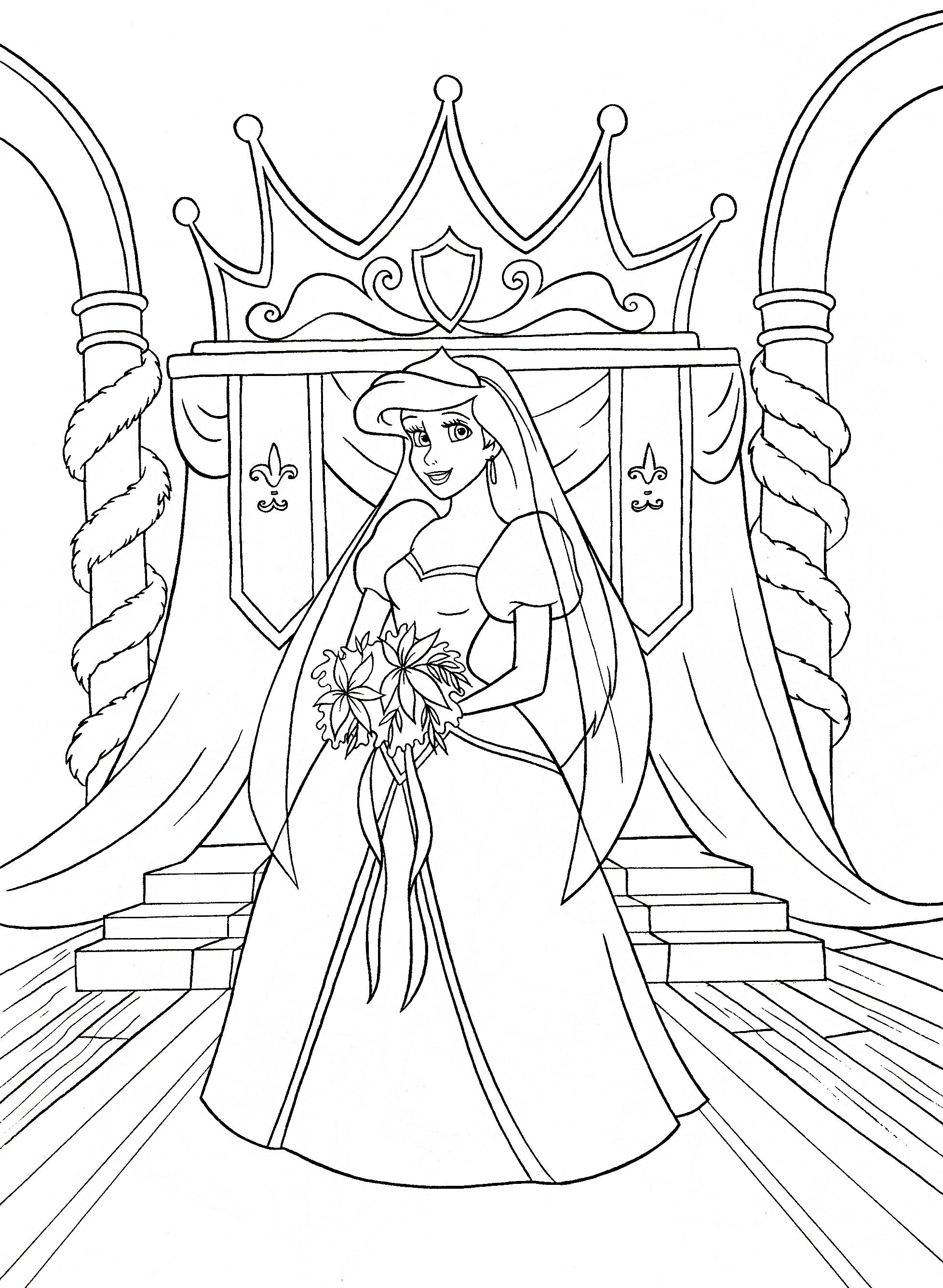 Walt Disney Coloring Pages - Princess Ariel - Walt Disney ...