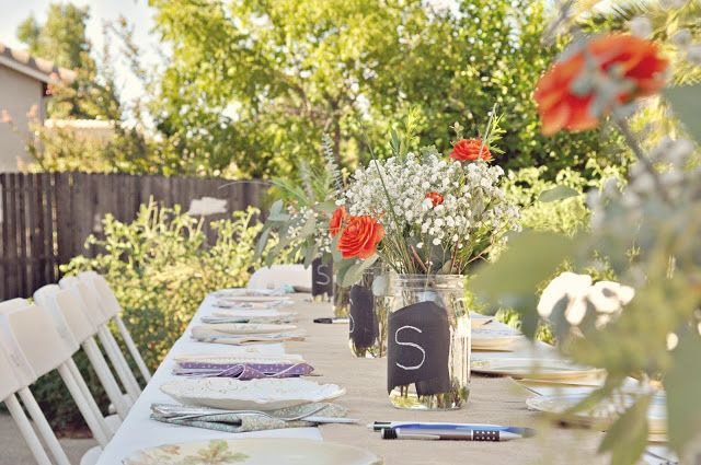 Backyard wedding shower decorating ideas