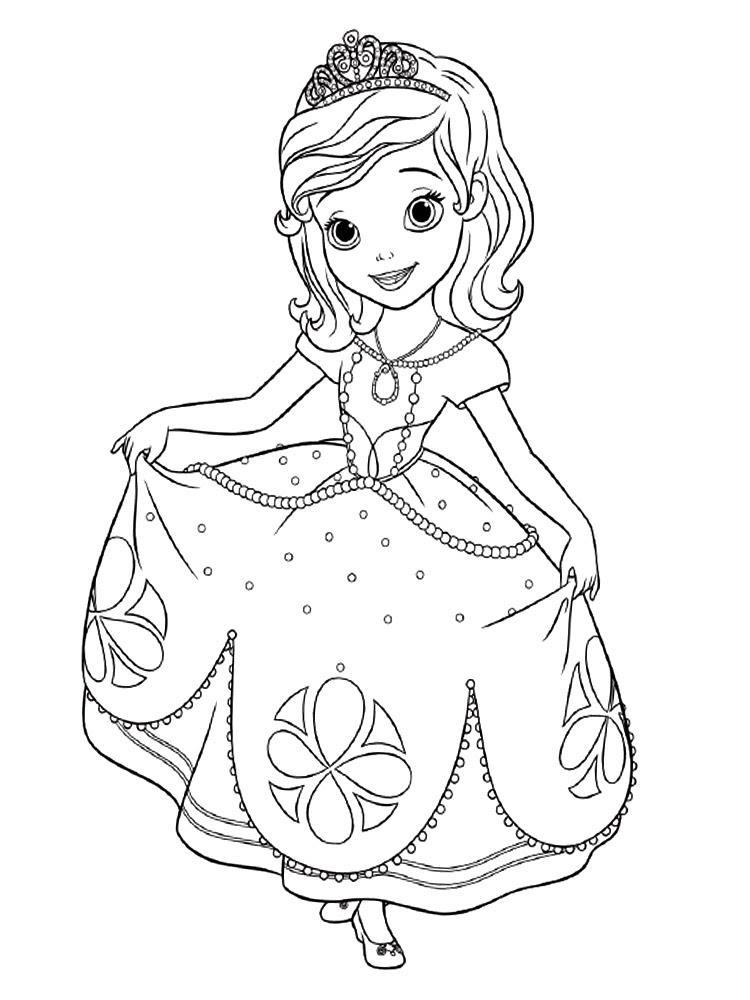 Descargamos Dibujos Para Colorear La Princesa Sofia