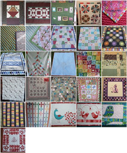 mosaic of my 2011 quilts