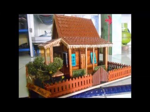 Tutorial Membuat Miniatur Rumah Minimalis Dari Kardus