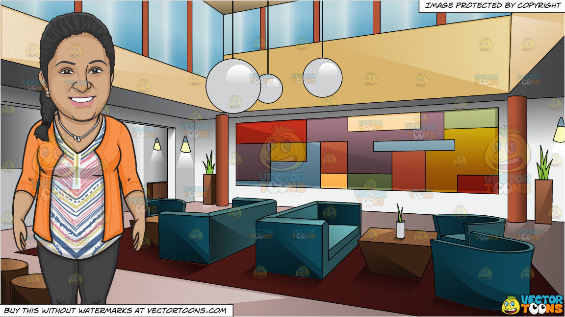 A Smiling Dental Office Receptionist And A Swanky Art Deco Style Hotel Clipart Cartoons By Vectortoons