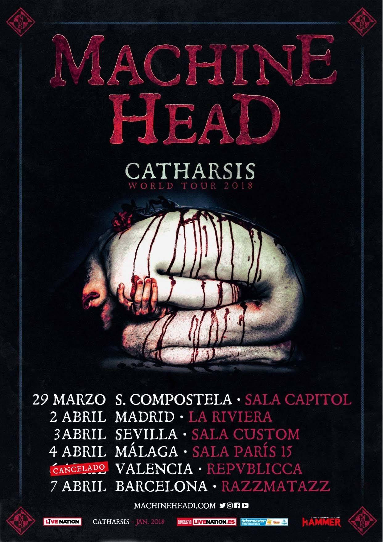 Machine Head Fechas 2018