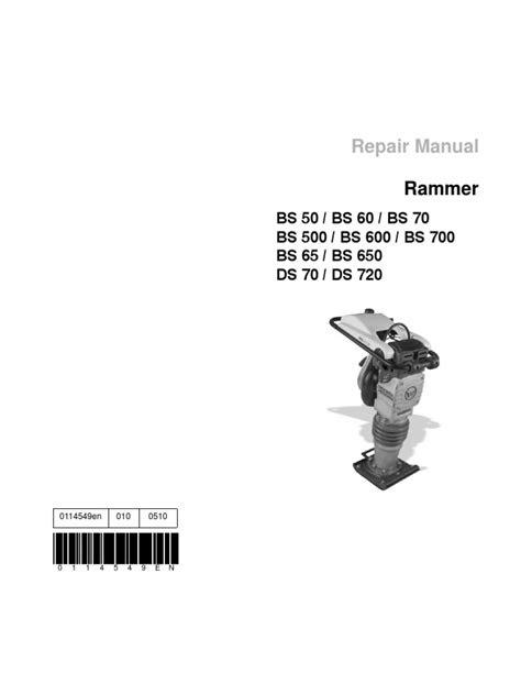 Wacker Manual | Internal Combustion Engine | Personal
