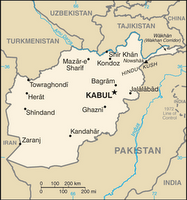 CIA map of Afghanistan in 2007