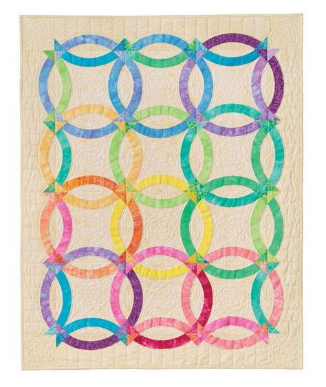 Nouveau Wedding Ring Quilt: Eleanor Burns Signature Quilt