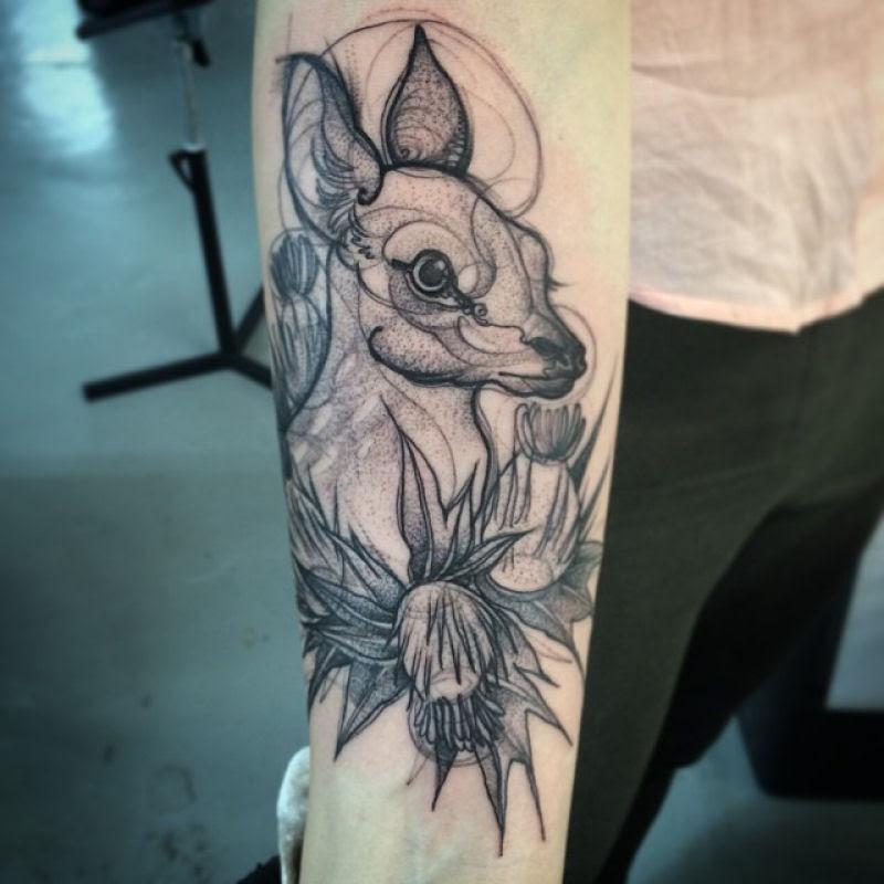 As tatuagens que parecem esboços de desenhos a lápis, por Nomi Chi 10