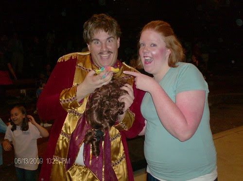 Beauty and the Beast Disney Cogsworth and Mrs Potts drama theater theatre with my knitted sock