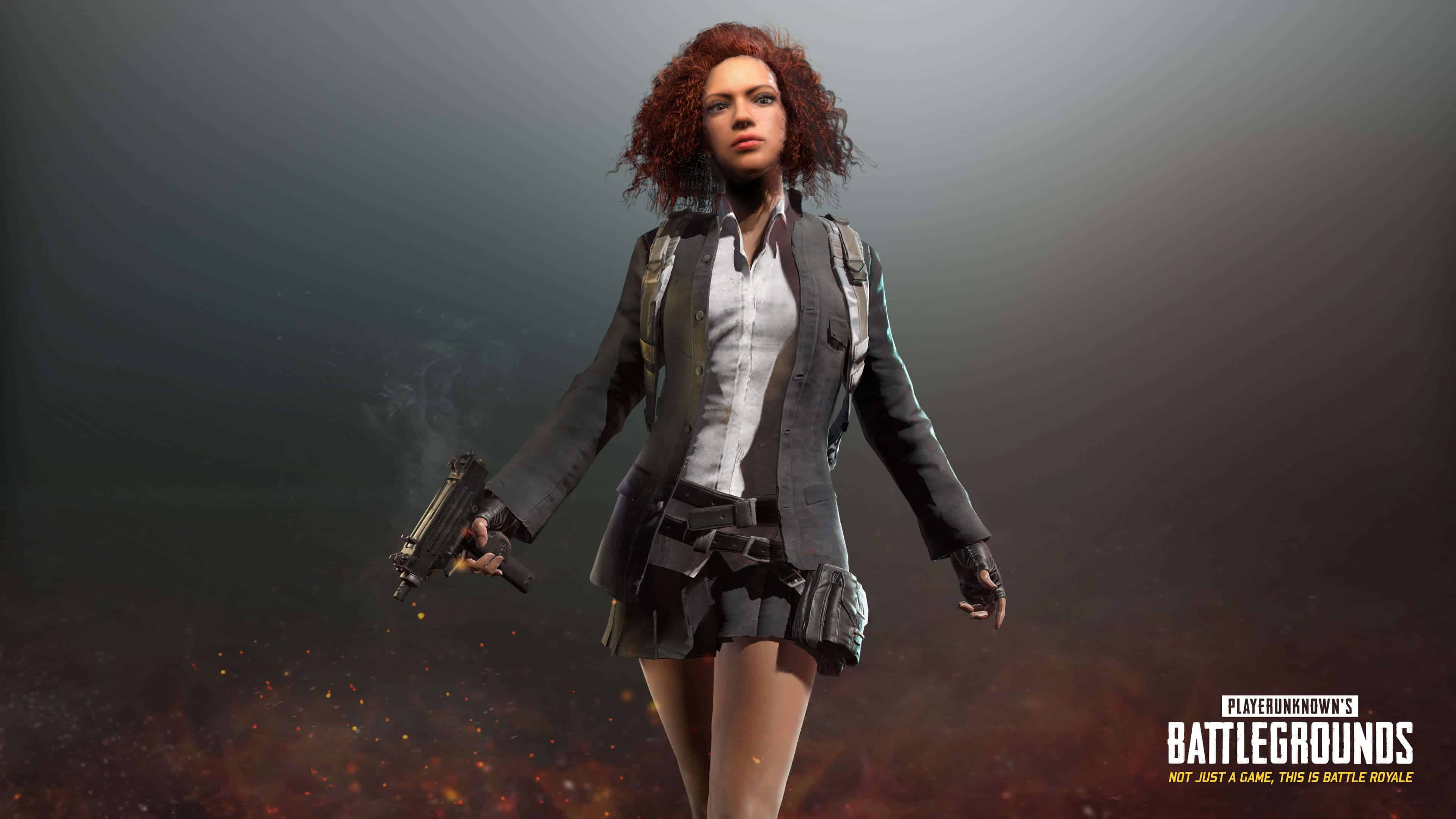 PUBG Player Unknown Battlegrounds Black School Uniform Set UHD 4K