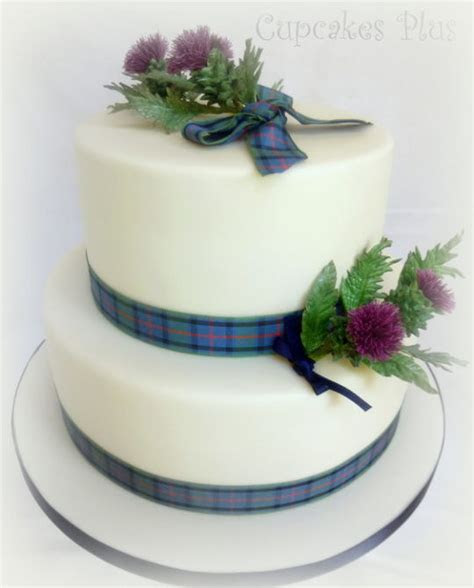 Scottish Thistle Wedding cake   Cake by Janice Baybutt