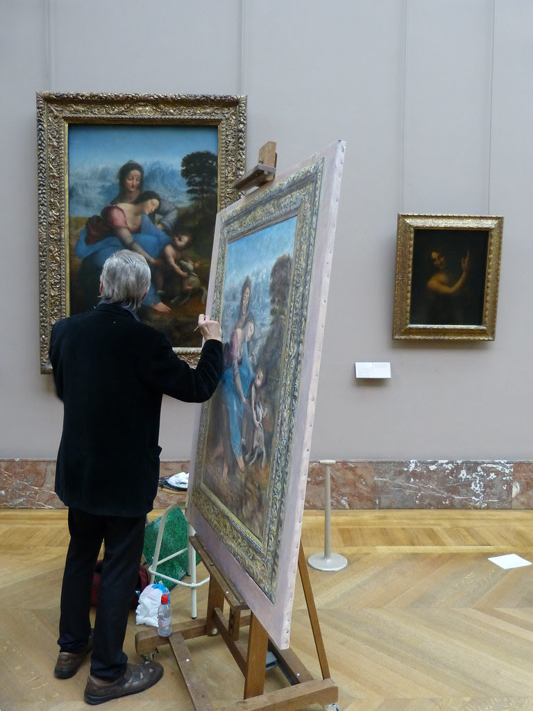 A painter at the Louvre