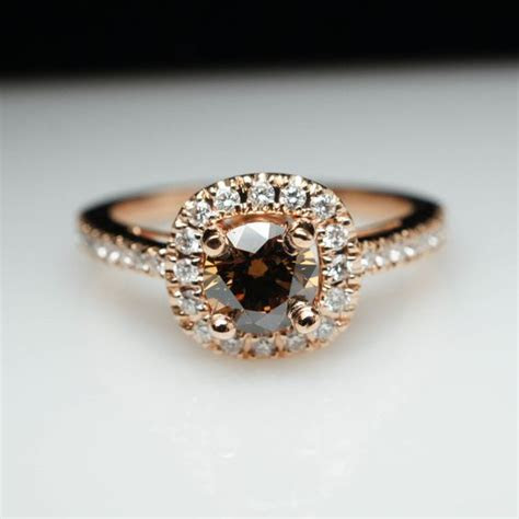 Brown Diamond Rings For Your Winter Wedding   Arabia Weddings