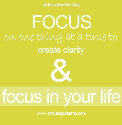 Quotes About Focus On One Thing 59 Quotes