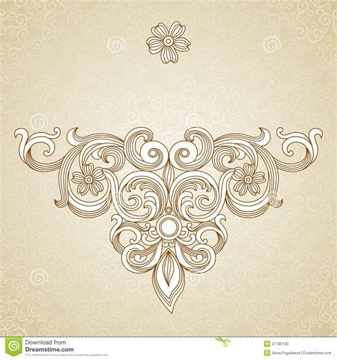 Vintage Ornate Pattern With Place For Your Text. Stock