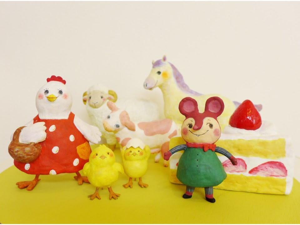 みずいななえ ねんど人形イラスト雑貨 富山アートマーケット2019