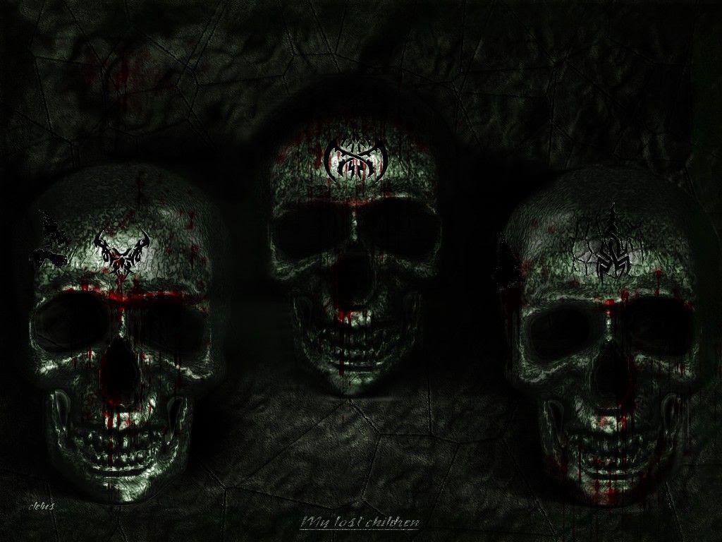 Desktop Background: Fond D'écran Hd Tete De Mort