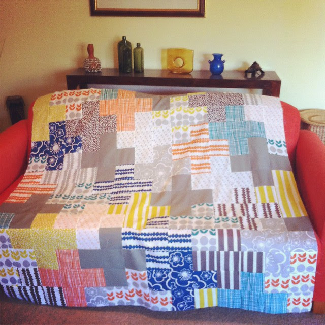 Arithmetic quilt top is finished!