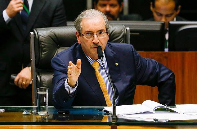 O presidente da Câmara dos Deputados, Eduardo Cunha (PMDB-RJ), em sessão plenária