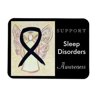 Sleep Disorders Awareness Ribbon Angel Magnet