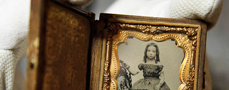 A child's portrait found on the battlefield of Port Republic, Virginia, between the bodies of a Confederate soldier and a Federal soldier (AP)