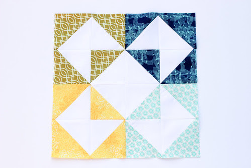 Half-Square Triangle Block of the Month December Quilt Block Tutorial - In Color Order