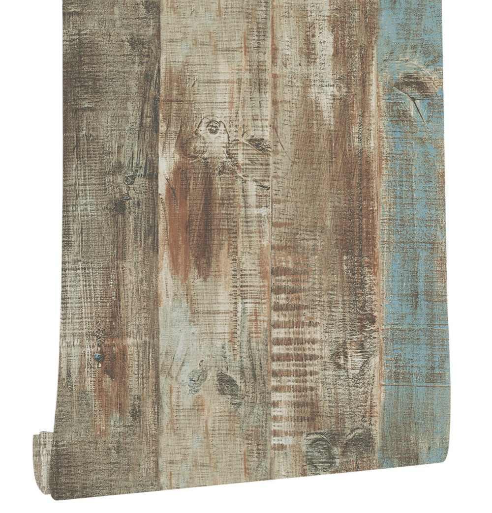 Haokhome ヴィンテージフェイク木材 3d ビニール壁紙ロールスロイス