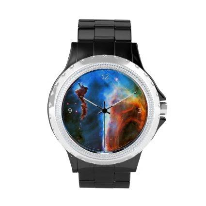 Keyhole Nebula and Digitus Impudicus Wristwatches
