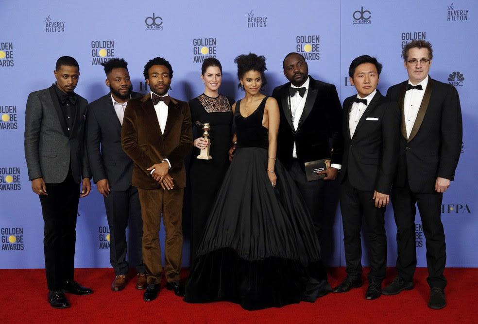 Equipe de 'Atlanta', eleita a melhor série de comédia do Globo de Ouro 2017 (Foto: Mario Anzuoni/Reuters)
