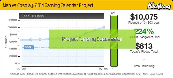 Men vs Cosplay: 2014 Gaming Calendar Project -- Kicktraq Mini
