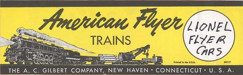 American Flyer box label by d.d. tinzeroes