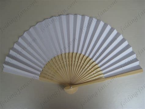 white cheap promotional hand paper folding fan wedding