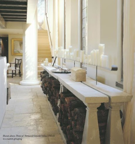 Hallway/ Foyer / Cement console tables by Elegant; room by Bobby ...