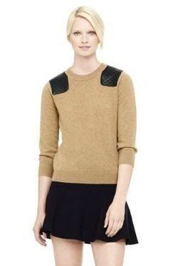 Club Monaco Audra Cashmere Leather Sweater