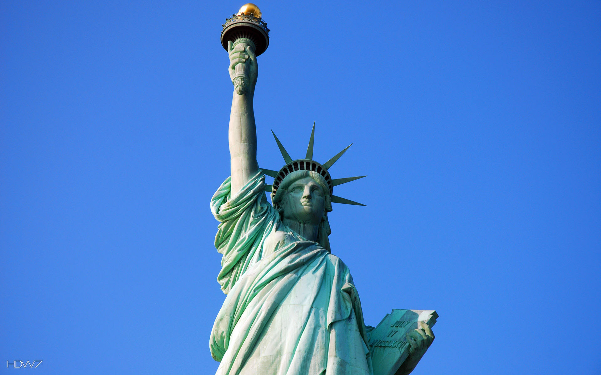 Statue Of Liberty Blue Sky Wallpaper Hd Wallpaper Gallery 219