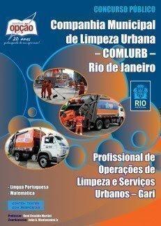 Apostila Comlurb concurso publico para Gari RJ - Companhia Municipal de Limpeza Urbana Rio de Janeiro.