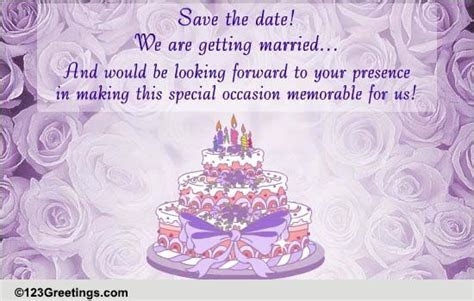 Save The Date! It's A Wedding! Free Wedding eCards