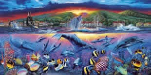 Clementoni's largest jigsaw puzzle 13200 pieces lahaina vision painted by lassen lahainavisionpanoramic