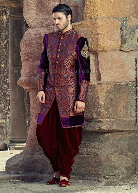 Velvet sherwani, indian wedding wear, groom sherwani, best