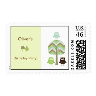 Owl Birthday Postage