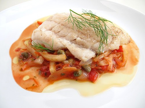 tilefish with Provencal vegetables