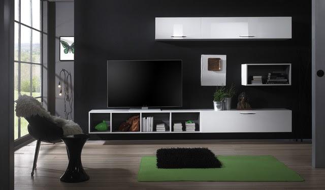 Modern Wall Unit TV Media Entertainment Center Club Composition 6 ...
